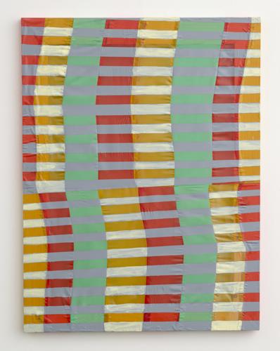 "anni , 2011 acrylic on fabric on wood  32 x 24"""