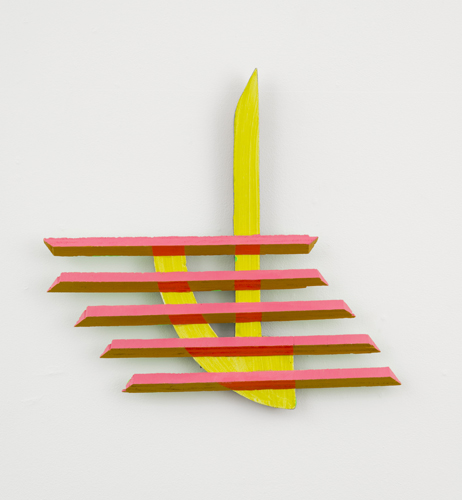 "shadow of a doubt, 2013 acrylic on wood 15.25 x 16 x 1.5"""