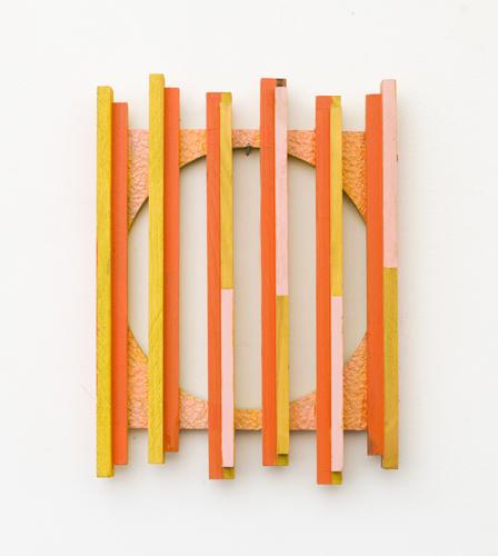 "Peek a boo , 2012 acrylic on foam and wood 10.5 x 8"""