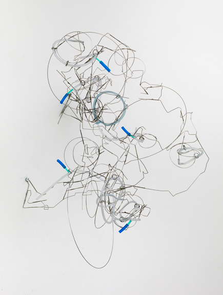 Smoke , 2012 stainless steel wire, plastic tube 22 x 18 x 18 inches