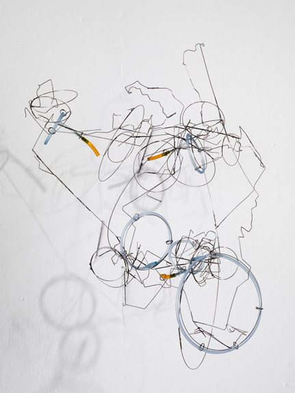 Cloud , 2011 stainless steel wire, plastic tube 22 ½ x 19 x 17 inches