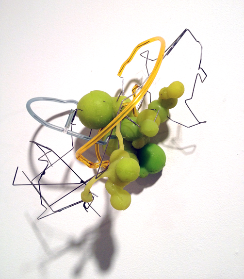 City #1 , 2012 silicone, stainless steel wiring with plastic tubing 8 ½ x 8 ½ x 6 ¾ inches