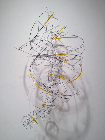 Over and Over,  2011 stainless steel wire, plastic tubing 35 x 16 x 18 inches