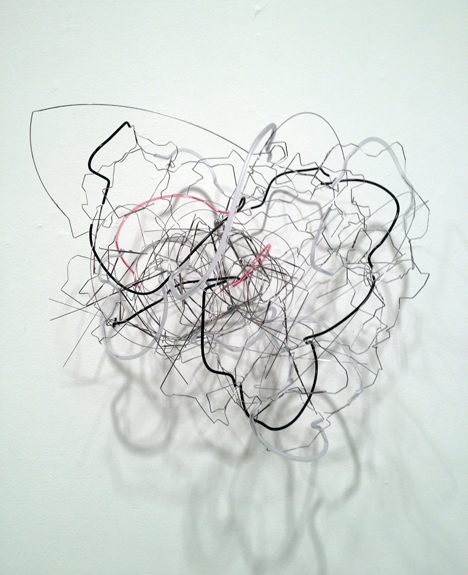 The Chief , 2011 stainless steel wire, plastic tubing 15 x 19 x 13 ½ inches