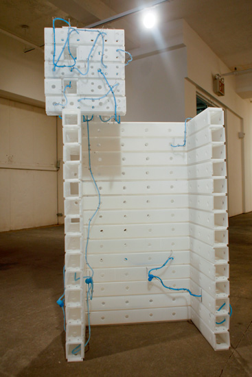 """Change Your Mind , 2009 plastic, stainless steel wire, silicone rubber  58 1/2"""" x 32 1/2"""" x 17 1/2"""""""