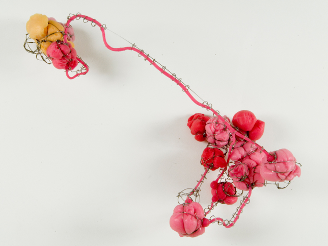 """Some Roads #24 , 2007 silicone, stainless steel wire 17 1/2"""" x 20 1/2"""" x 8 1/2"""""""