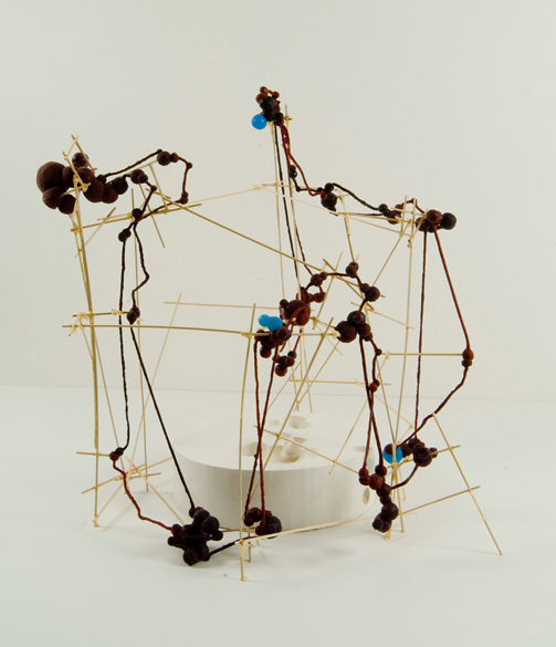 """System Drawing #27 , 2007 silicone, hydrocal, basswood, glue 25""""x 25""""x 22"""""""
