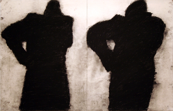untitled , 2011 charcoal on paper 26 X 40 inches
