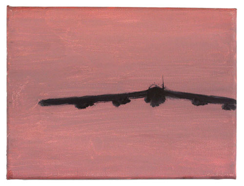 In the Mood for Love (Pink),  2006 oil on canvas 6 X 8 inches