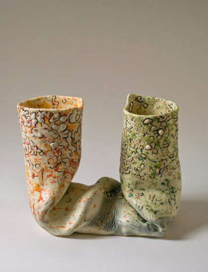 Dyad (13) , 2012 glazed ceramics 7 x 8.75 x 5 inches