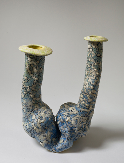 Dyad (5) , 2012 glazed ceramics 10.75 x 7.5 x 6 inches