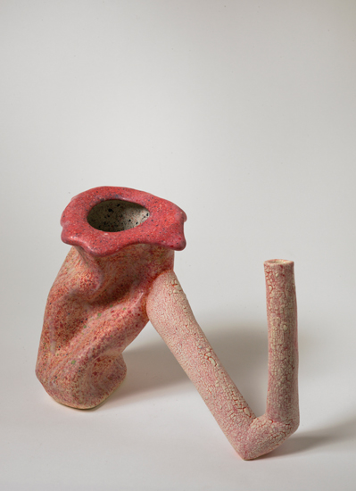 Lean-two , 2012 glazed ceramics 8.25 x 11.75 x 8 inches