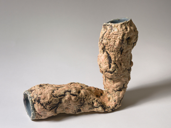 Bended , 2012 glazed ceramics 7.5 x 4 x 9.5 inches