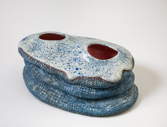 Molten,  2011 glazed ceramics 5.5 x 12 x 8 inches