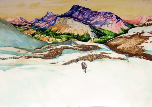 The Free Northwesterners , 2011 Ink and watercolor on paper  40 x 59 inches