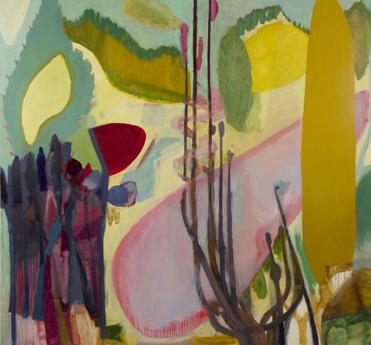 """dune walk ,2012 oil on canvas 72 x 78"""""""