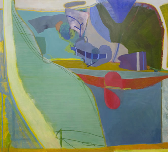 reclining , 2012 oil on canvas 78 x 84""