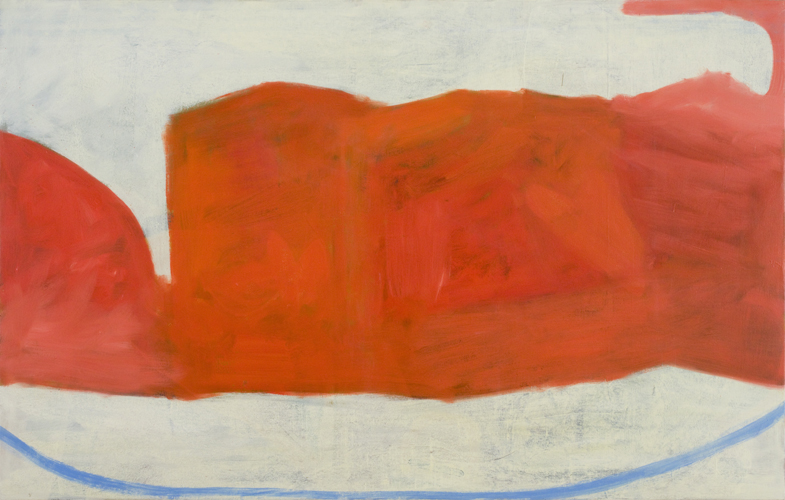 """persimmons or not, 2010 oil on canvas 42 x 66"""""""