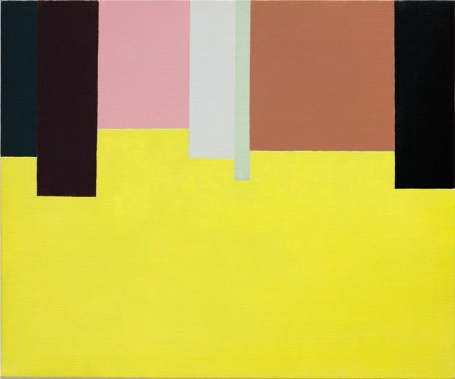 "Untitled ,2011 acrylic on canvas 19 ¾"" x 24"""