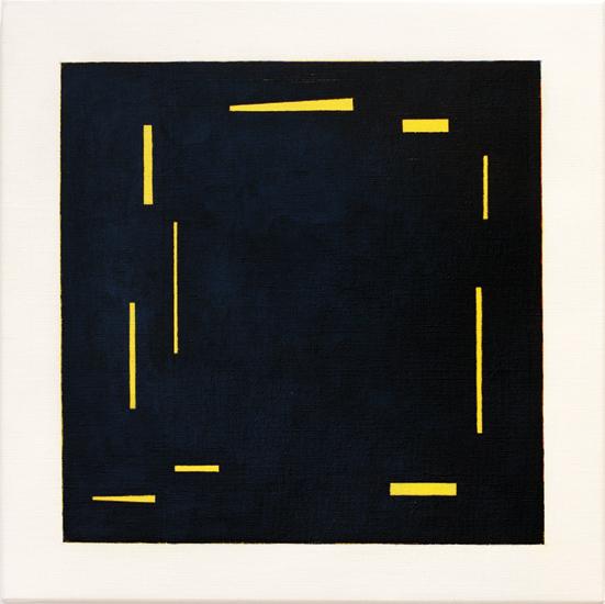 "Untitled ,2011 acrylic on canvas 19 ¾"" x 19 ¾"""