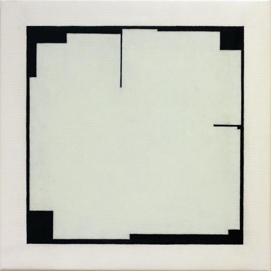 "Untitled ,2012 acrylic on canvas 19 ¾"" x 19 ¾"""