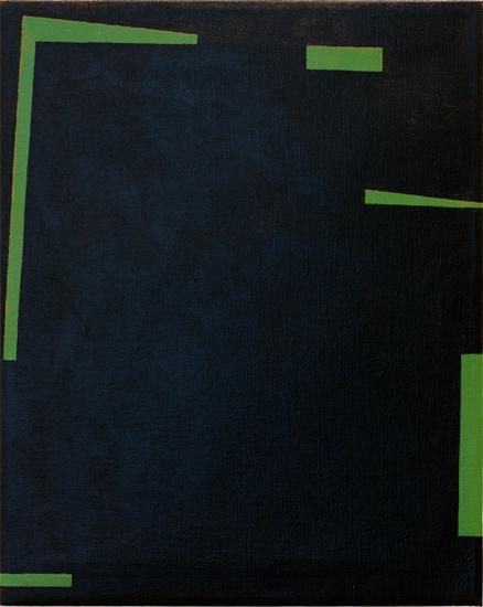 "Untitled ,2011 acrylic on canvas 19¾ "" x 15 ¾"""