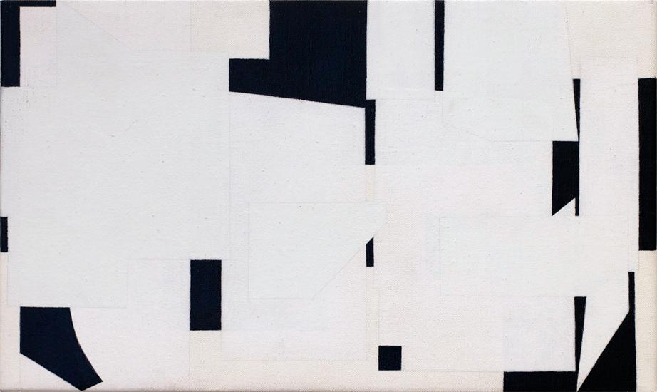 "Untitled ,2011 acrylic on canvas 11 ¾"" x 19 ¾"""