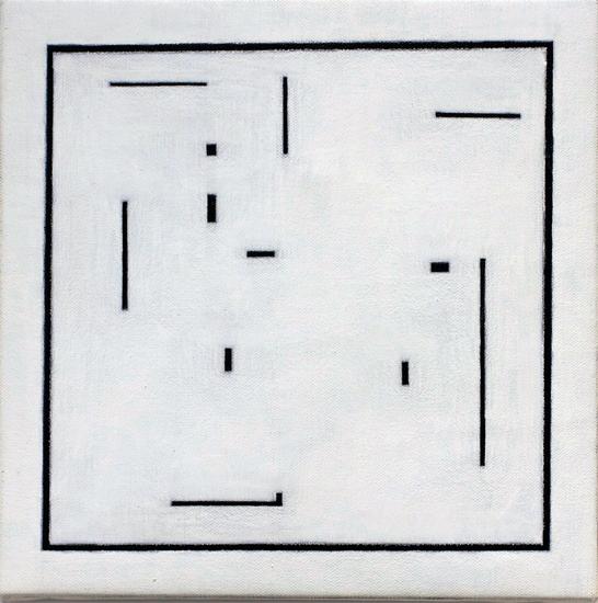 "Untitled ,2012 acrylic on canvas 11 1/8"" x 11 1/8"""