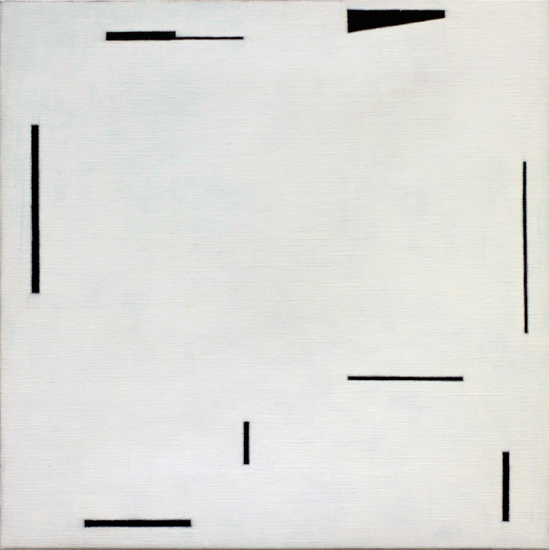 "Untitled, 2012 acrylic on canvas 15 ¾"" x 15 ¾"""