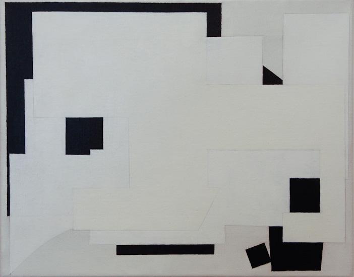 "Untitled ,2009 acrylic on canvas  15 3/4"" x 19 3/4"""