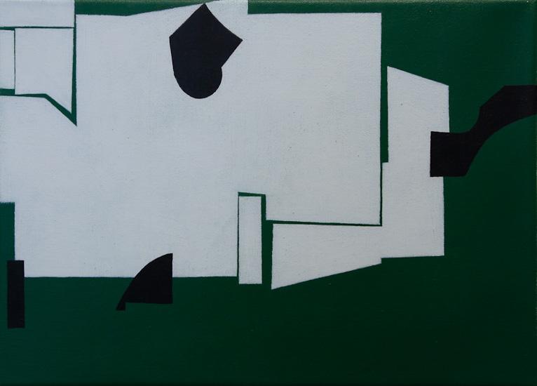 "Untitled ,2009 acrylic on canvas  12"" x 15 5/8"""