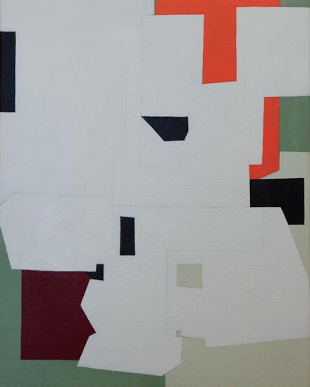 "Untitled ,2009 acrylic on canvas  19 3/4"" x 15 3/4"""