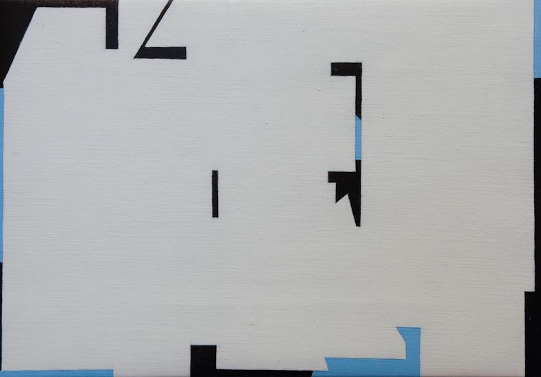 "Untitled ,2009 acrylic on canvas  11"" x 15 3/4 """