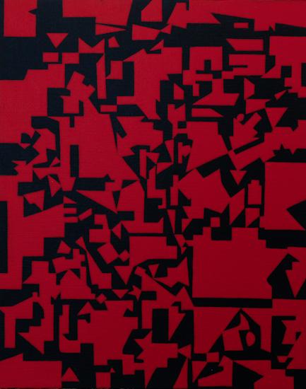 "Untitled, 2006 acrylic on canvas  19 3/4"" x 15 3/4"""