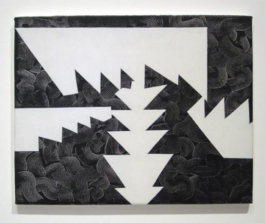 "Untitled ,2007 acrylic on linen 15 ¾"" x 19 ¾"""