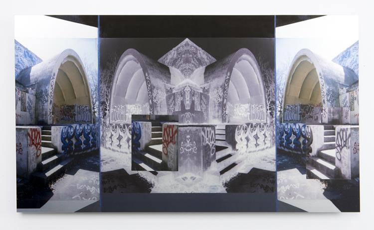 "ampitheater , 2009 duraclear mounted on aluminum 12 x 16"""
