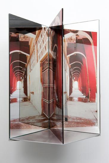 "complex , 2009 aluminum, duraclear, glass mirror, Plexi-glass 23 x 15 x 11"""