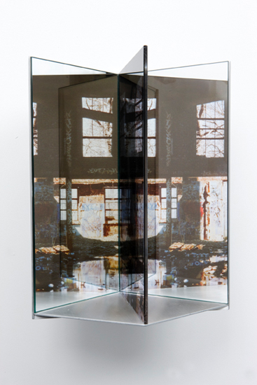 "graffiti , 2009 duraclear mounted on aluminum 16 x 9 x 10"""