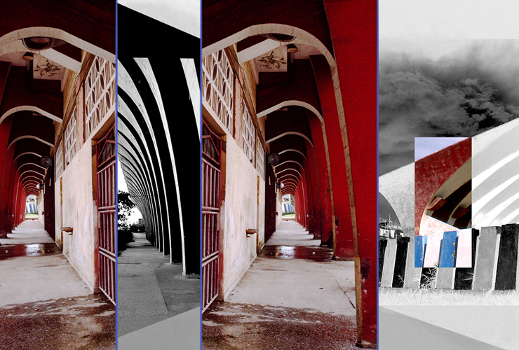 colonnade , 2009 duraclear mounted on aluminum 24 x 35""