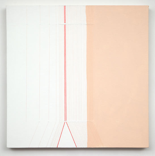 """tease #3 , 2007 acrylic and thread on canvas 22 X 22"""""""