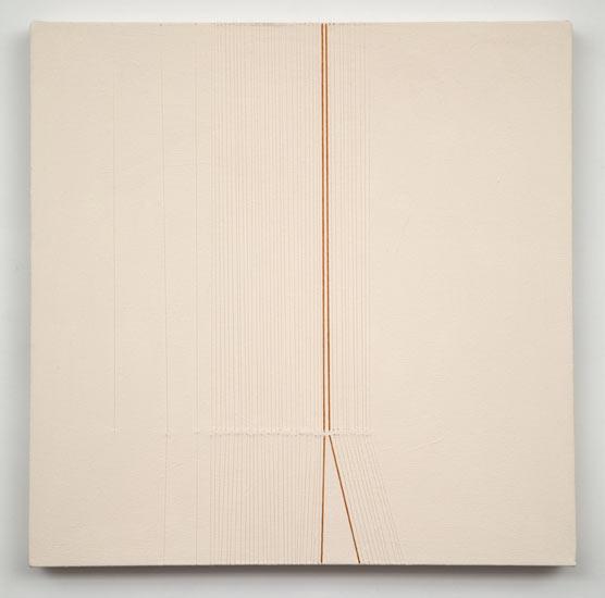"""tease #2 , 2010 acrylic and thread on canvas 20 X 20"""""""