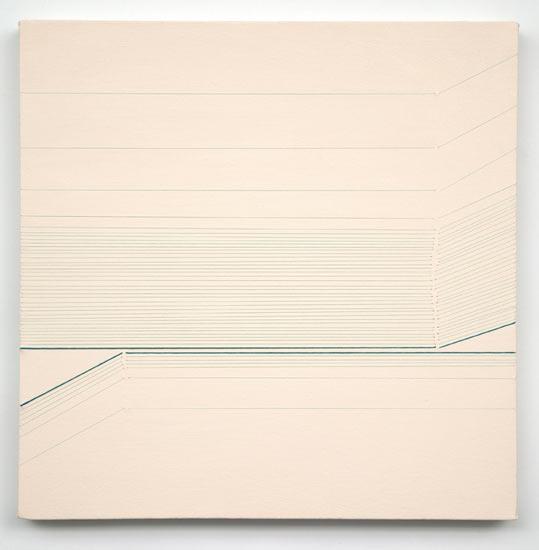 """tease #4 , 2010 acrylic and thread on canvas 20 X 20"""""""