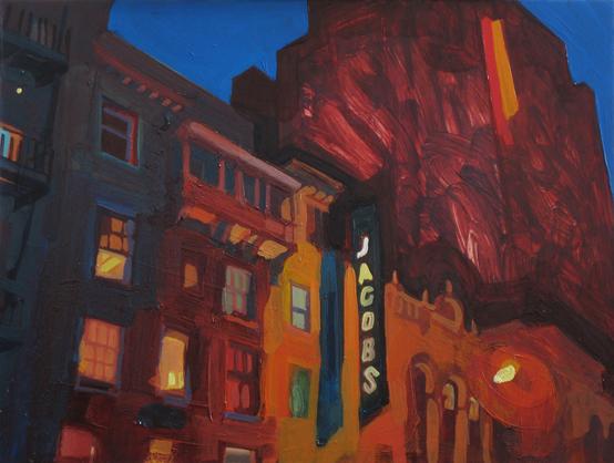 Theatre of Dreams , 2008 oil on copper 9 7/8 x 13 inches