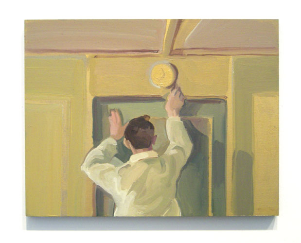First Class Steward , 2007 oil on board 8 x 10 inches