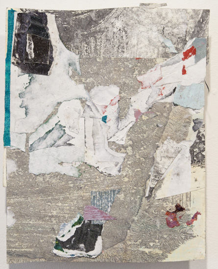 membrane , 2010 acrylic paint and pasted paper 11 3/4 x 9 1/4 inches