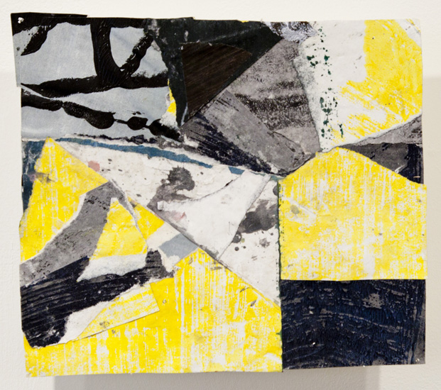 lapse , 2010 acrylic paint and pasted paper 8 3/4 x 9 3/4 inches