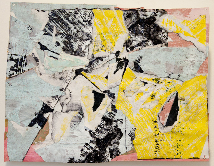 abandon , 2010 acrylic paint and pasted paper 8 3/4 x 11 3/8 inches