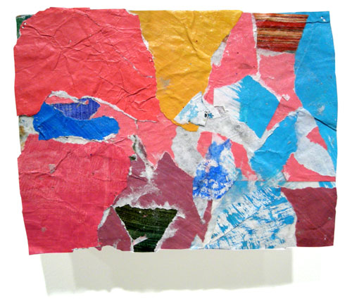 Postcard from Florida #61 , 2006 acrylic paint and pasted paper 4 3/8 X 6 5/8 inches