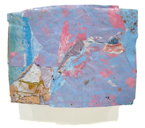 Postcard from Florida #110 , 2007 acrylic paint and pasted paper 5 X 6 1/2 inches