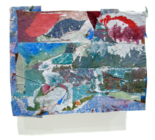 Postcard from Florida #153 , 2008 acrylic paint and pasted paper 5 x 6 1/4 inches